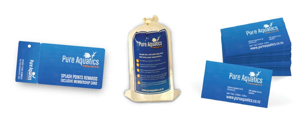 Pure Aquatics Graphic Design Rebranding