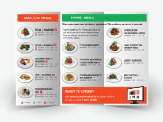 Muscle Fuel Flyer - graphic design services Hamilton