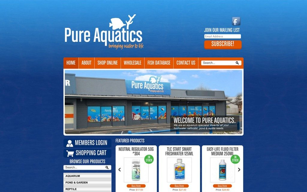 pureaquatics.co.nz