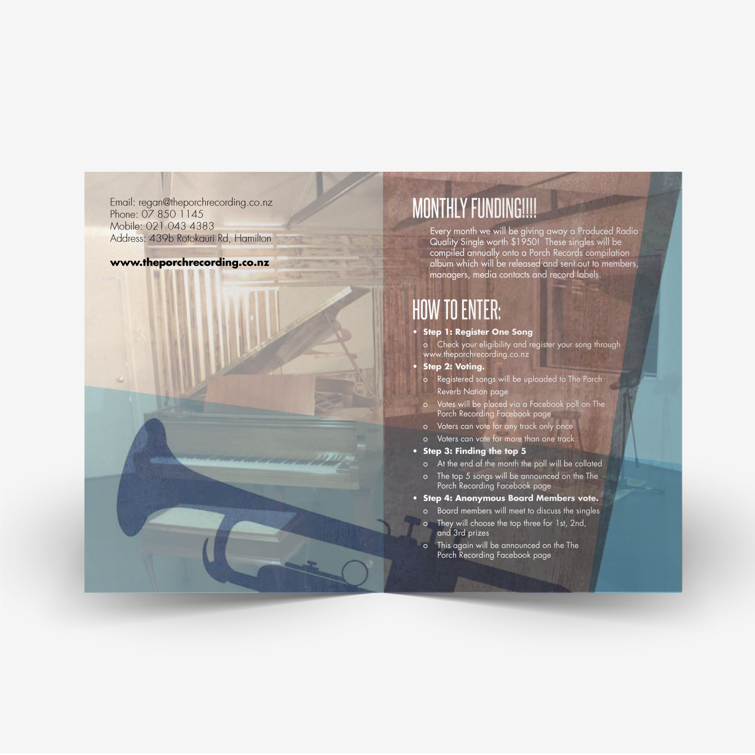 Porch Music Funding Brochure Design 2