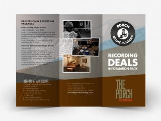Porch Recording Studio Flyer Design 1