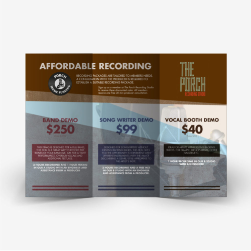 Porch Recording Studio Flyer Design 2