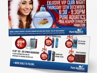 Pure Aquatics Invitation Flyer Design