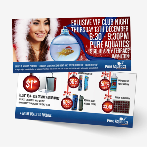 Pure Aquatics Invitation Flyer Design