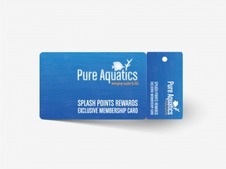 Pure Aquatics Membership Loyalty Card Design