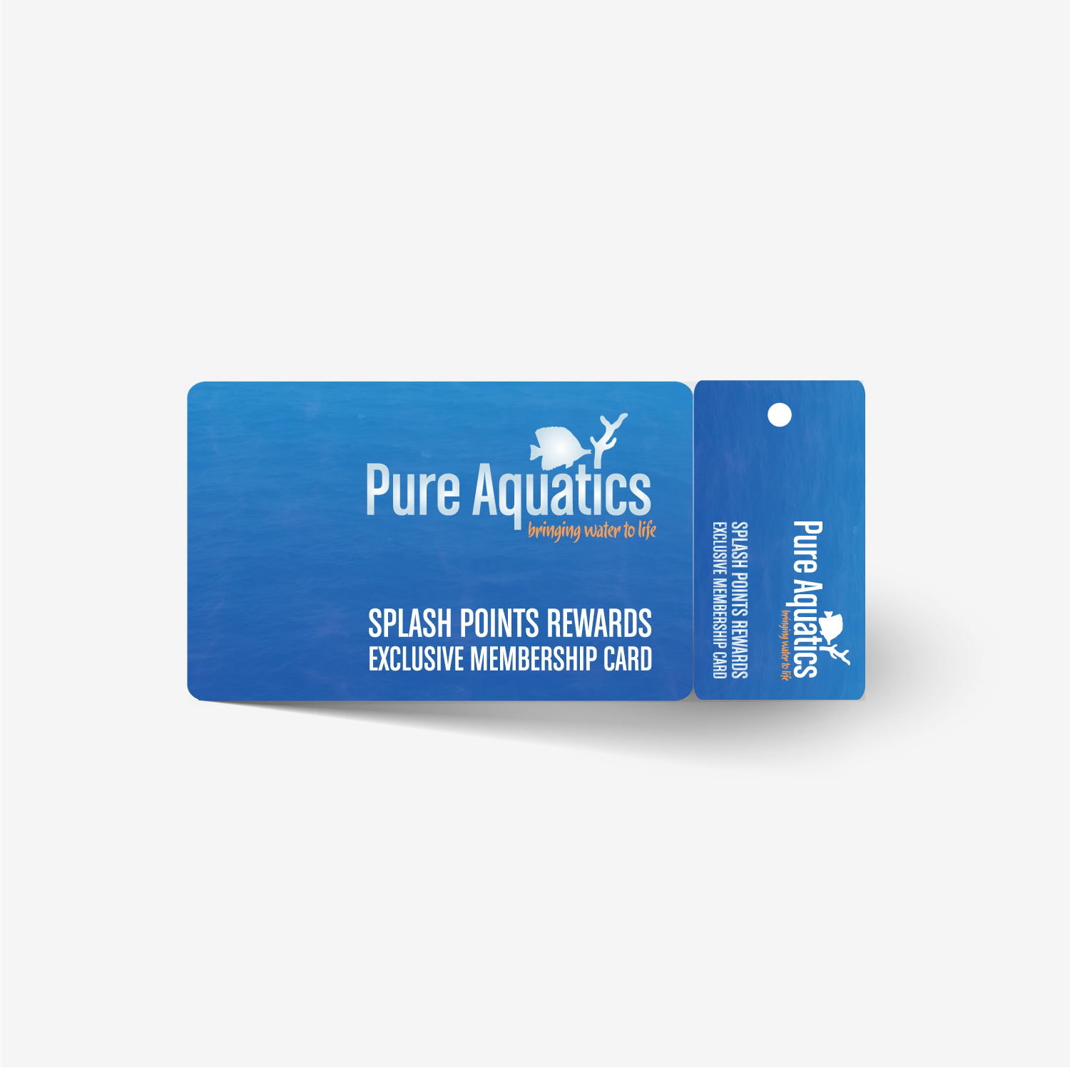 Pure Aquatics Membership Loyalty Card Design