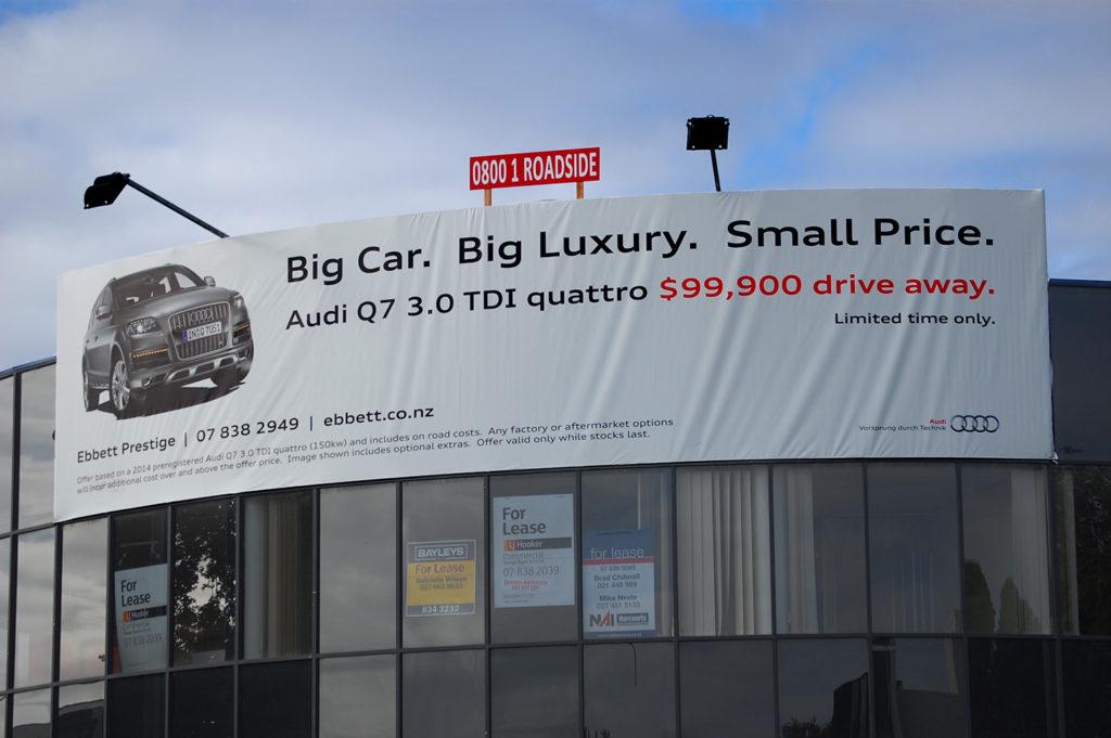 Audi Q7 Billboard Graphic Design