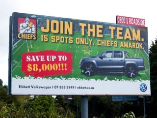 Chiefs VW Amarok Billboard Design