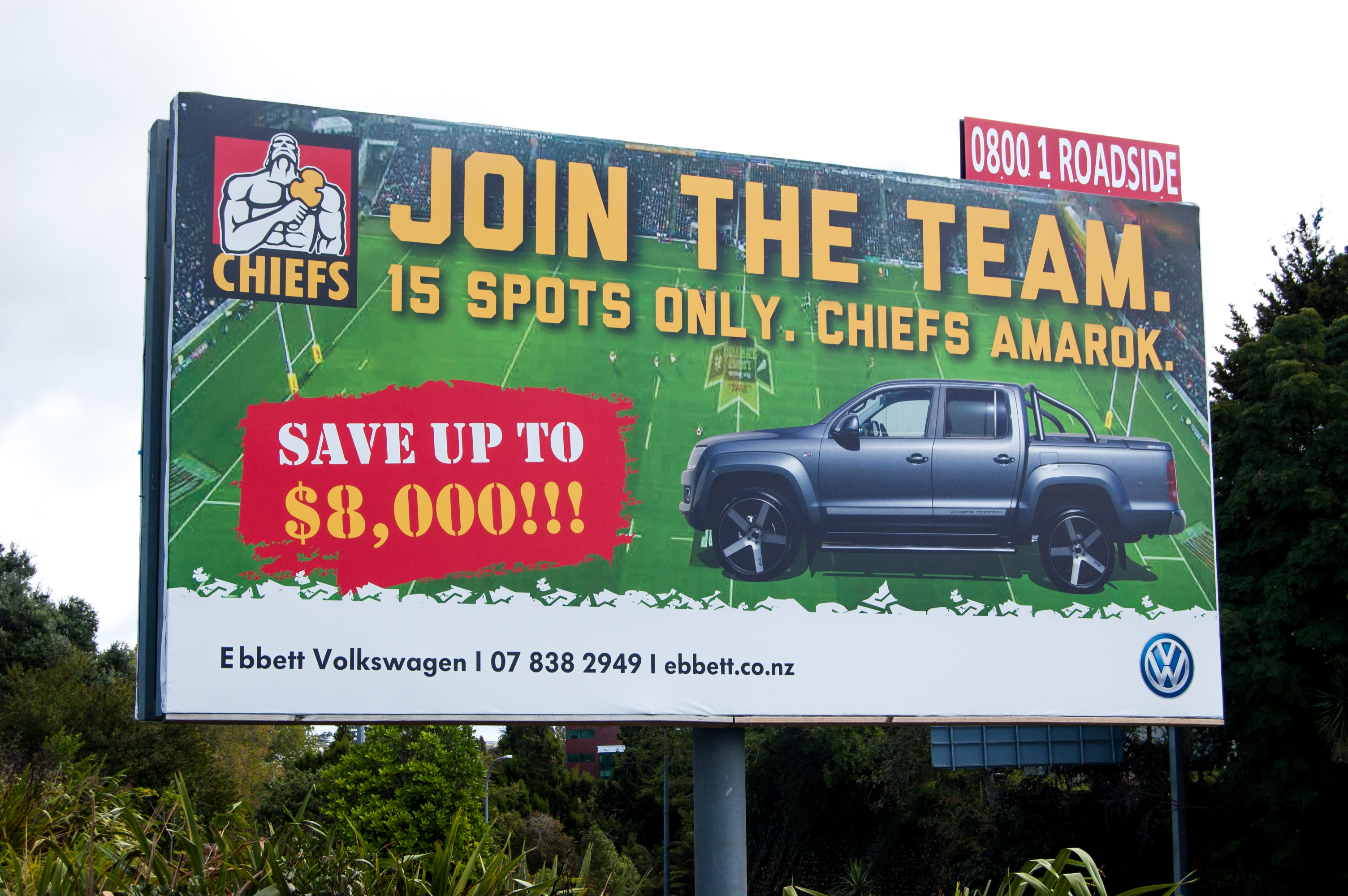 Chiefs VW Amarok Billboard Design