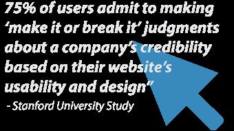 online marketing first impressions based on website design