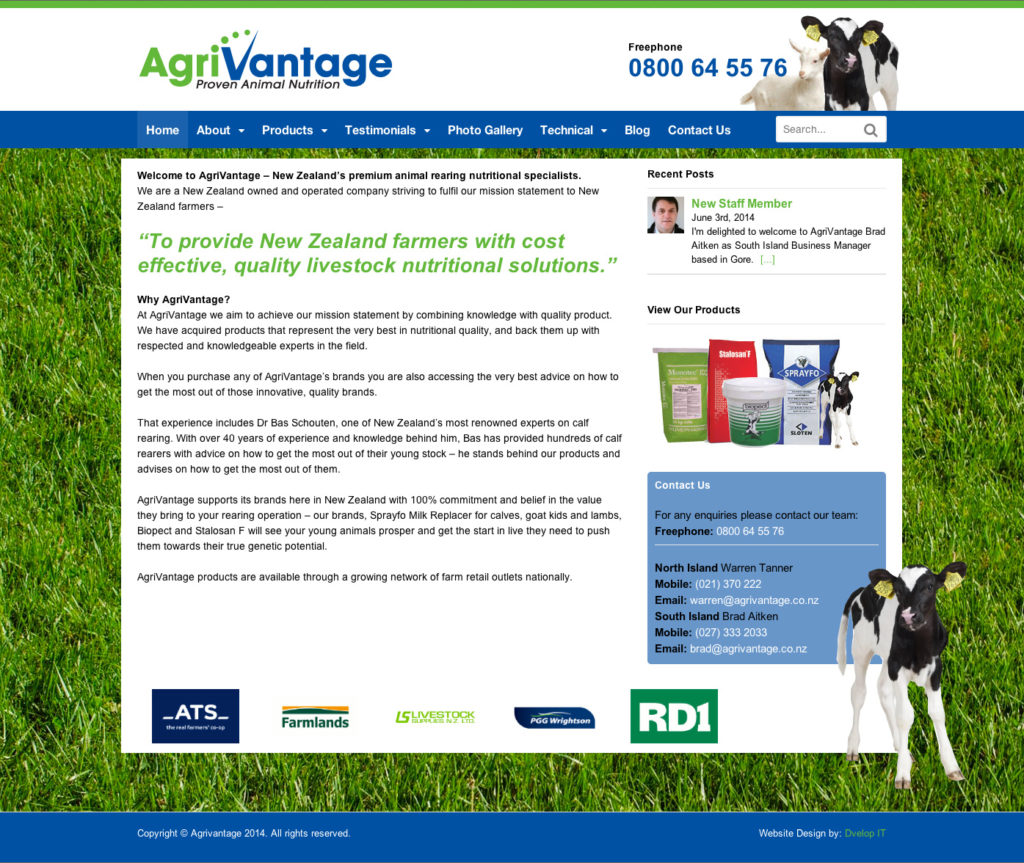 Agrivantage Website design