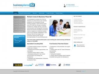 Business Plans NZ Website design