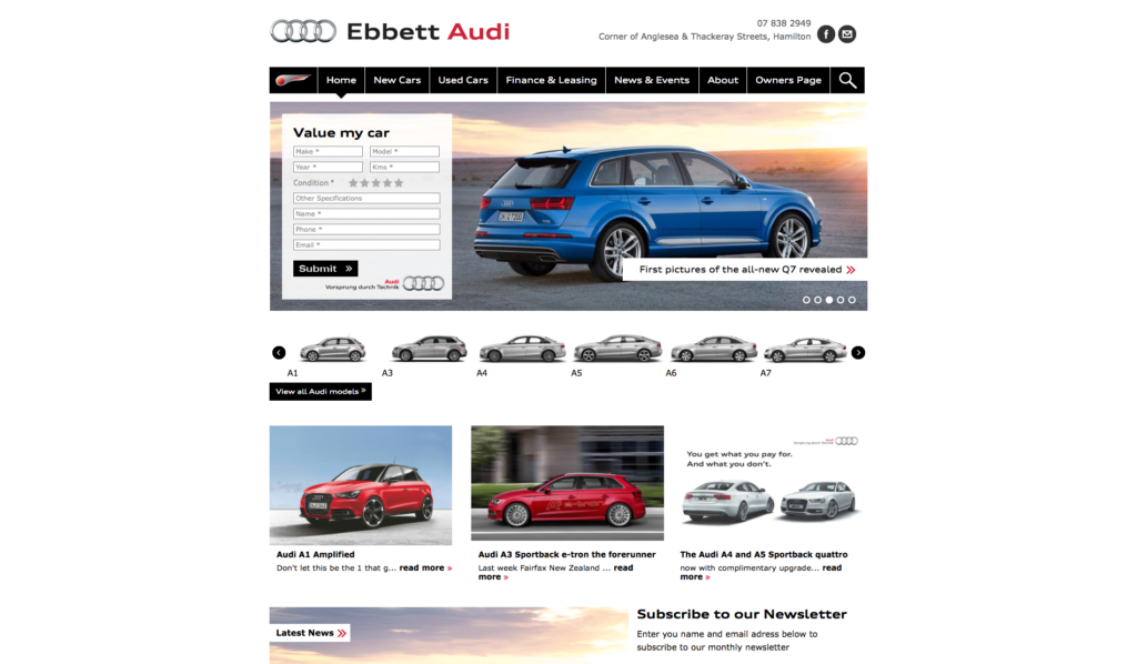 Ebbett Audi Website Development