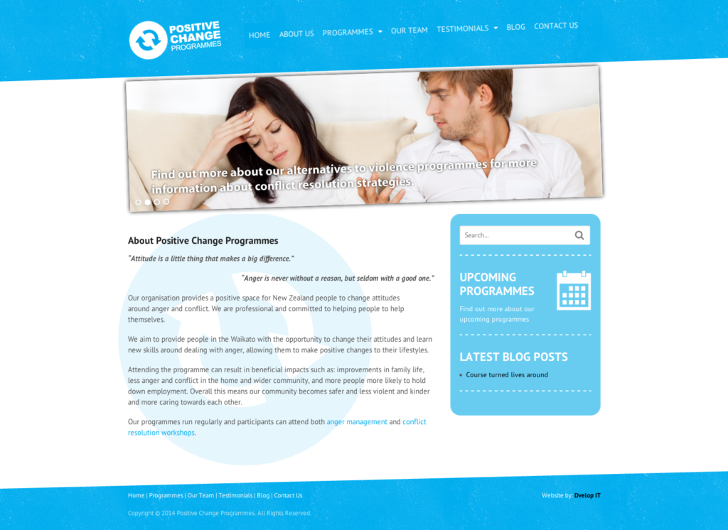 Positive Change Programmes Website