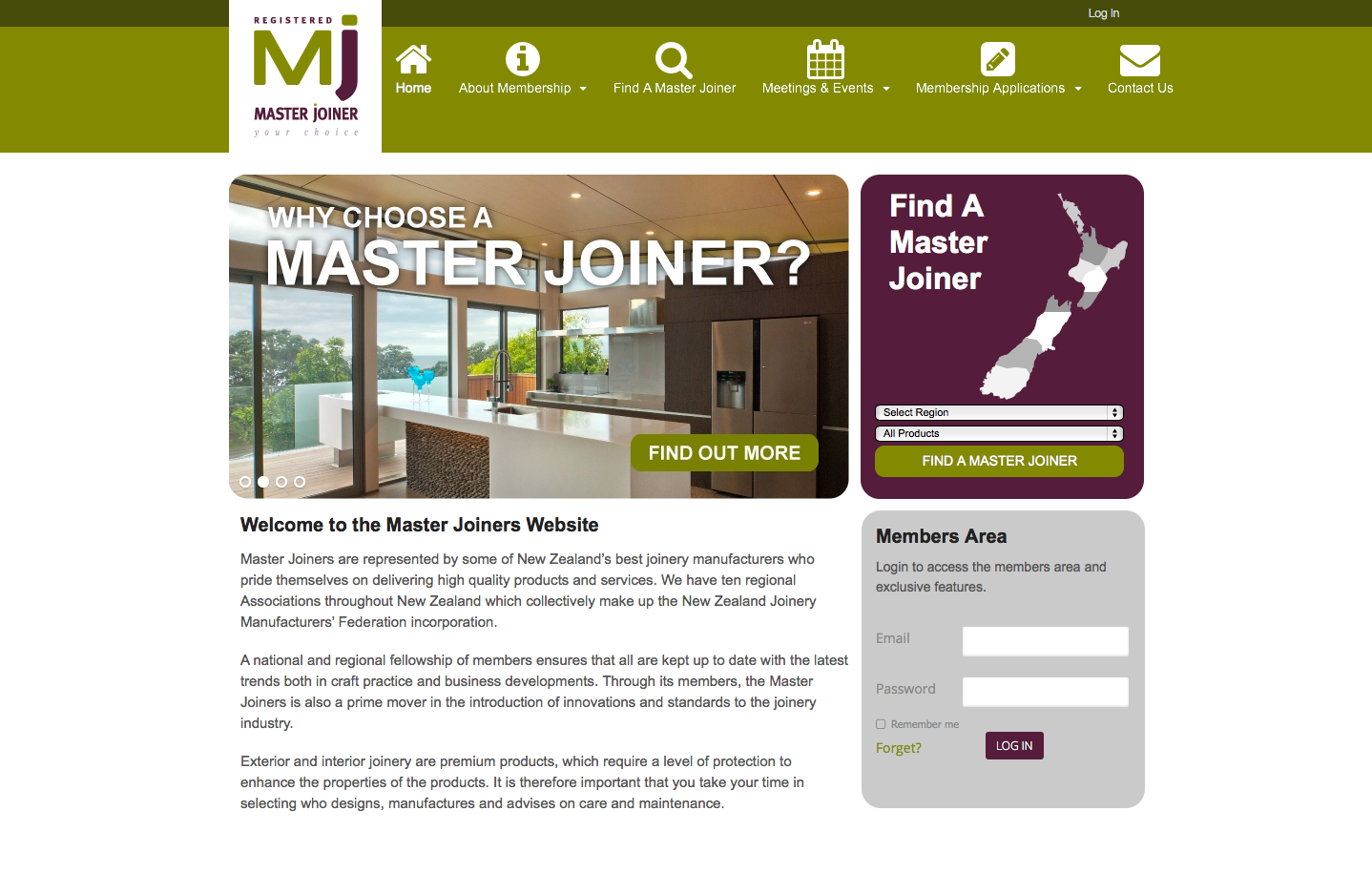 Master Joiners Website Design