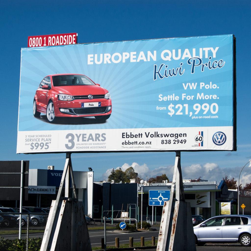 VW Polo Billboard Design