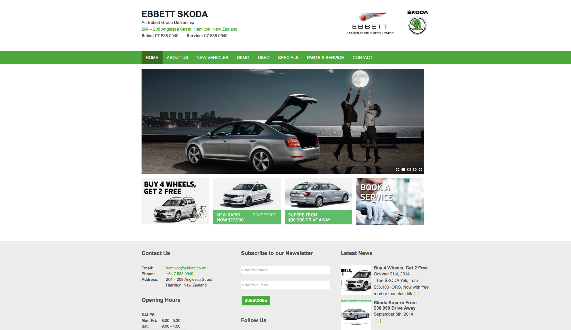 Ebbett Skoda Website Development